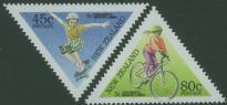 NZ SG1884-5 Children's Sports health stamps set of 2